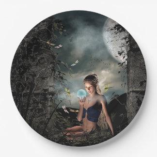 Pretty Fairy Tale Full Moon Crystal Ball Plates