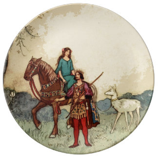 Pretty fairytale horse plate