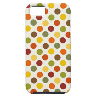 Pretty Fall Autumn Colors Polka Dots Pattern iPhone 5 Cases