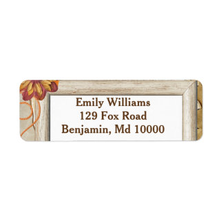 Pretty Fall Return Address Label