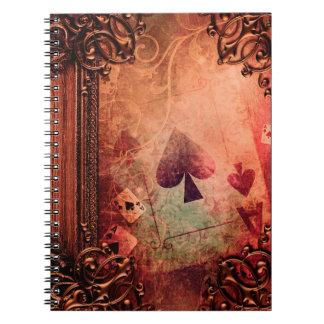 Pretty Fantasy Ace of Spades Ancient Tome Note Books