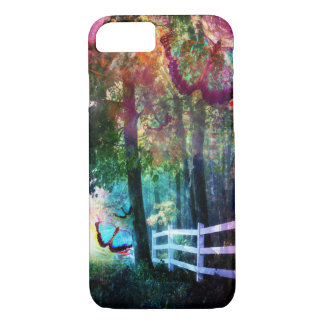 Pretty Fantasy Butterfly White Picket Fence Case