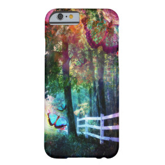Pretty Fantasy Butterfly White Picket Fence Case Barely There iPhone 6 Case