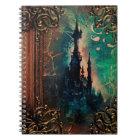 Pretty Fantasy Castle Ancient Tome Magic Book