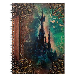 Pretty Fantasy Castle Ancient Tome Magic Book Spiral Note Book