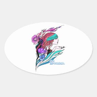 pretty fantasy girl dream stickers