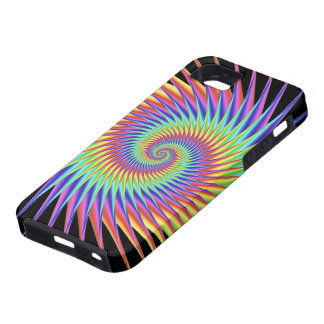 Pretty Fantasy Patterns Rainbow Thorns Tough iPhone 5 Case