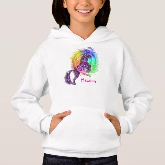 Pretty Fantasy Rainbow Unicorn Personalised