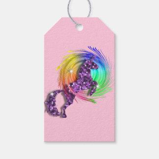 Pretty Fantasy Rainbow Unicorn Personalized Gift Tags