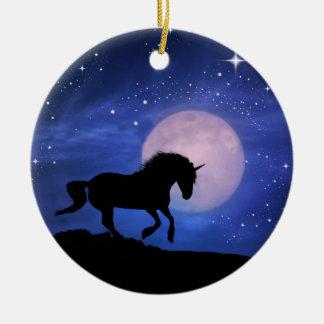 Pretty Fantasy Unicorn Christmas Ornament
