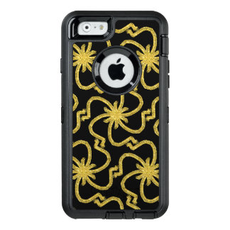 Pretty Faux Gold Lame Thread Art Deco Starbursts OtterBox iPhone 6/6s Case