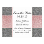 Pretty Faux Pink Glitter and Grey Fabric