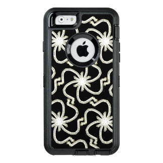 Pretty Faux White Gold Thread Art Deco Starbursts OtterBox iPhone 6/6s Case