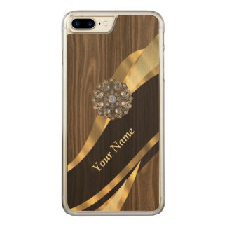 pretty faux wood carved iPhone 8 plus/7 plus case