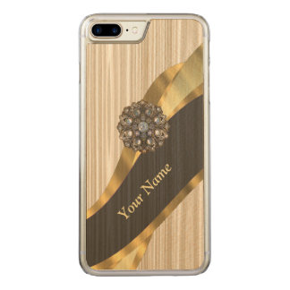 pretty faux wooden carved iPhone 8 plus/7 plus case