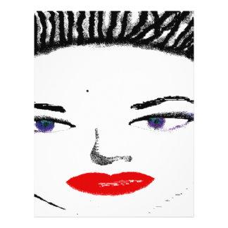 Pretty Female Faces Full Color Flyer