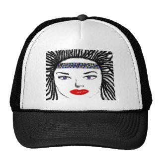 Pretty Female Faces Hat