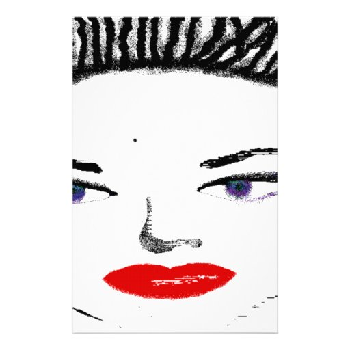 Pretty Female Faces Stationery