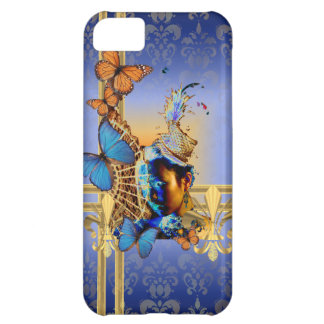 Pretty feminine girly design and butterflies iPhone 5C case