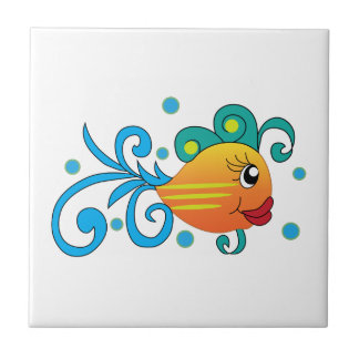 PRETTY FISH SMALL SQUARE TILE