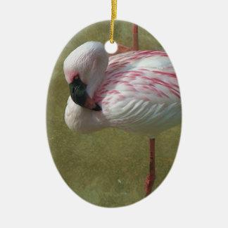 Pretty Flamingo Ceramic Oval Decoration