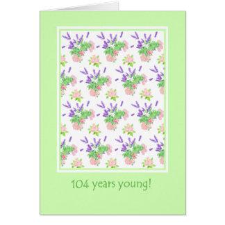 Pretty Floral 104th Birthday Greeting Card