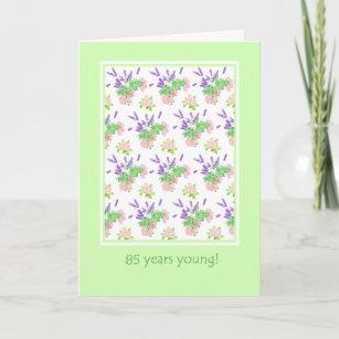 Vintage 85th birthday cards zazzle uk pretty floral 85th birthday greeting card m4hsunfo