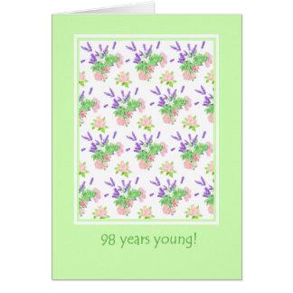 Pretty Floral 98th Birthday Greeting Card