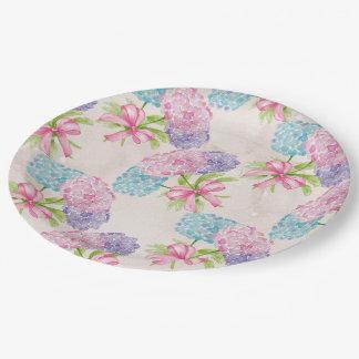 Pretty Floral 9 Inch Paper Plate