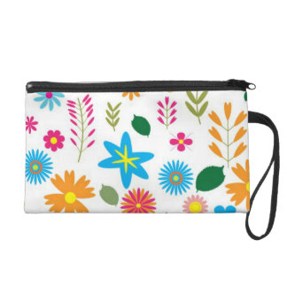 Pretty Floral Art Wrist Bag