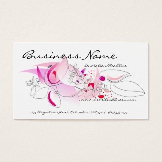 Pretty Floral Business Cards