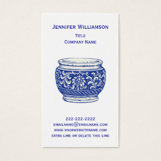 Pretty Floral CACHEPOT ElegantPottery Flower Pot Business Card