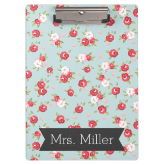 Pretty Floral Clipboard - Personalize