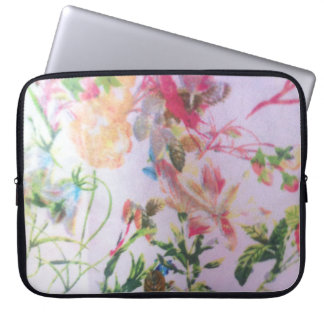 Pretty floral  coloured  Neoprene Laptop Sleeve