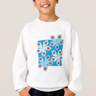 Pretty floral design, blue, red and white. sweatshirt
