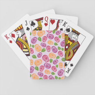 Pretty Floral Flower Pattern Pick Color Background Playing Cards