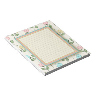 Pretty floral frame notepad