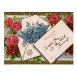 Pretty Floral Greeting Postcard