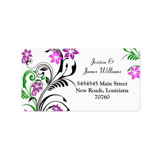 pretty floral Label Address Label