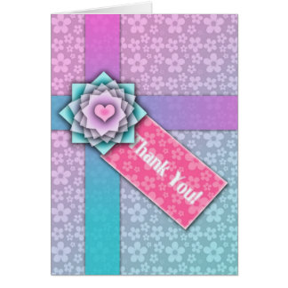 Pretty Floral Package Thank You Card