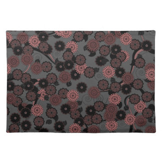 Pretty Floral Pattern Placemat in Dark Dusky Pink