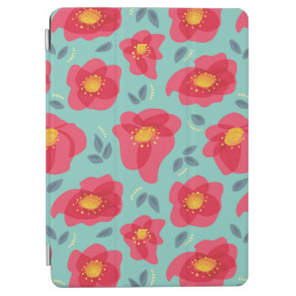 Pretty Floral Pattern With Bright Pink Petals iPad Air Cover