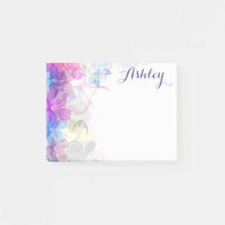 Pretty Floral Post It Notes