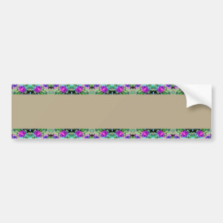 Pretty Floral Purple Morning Glories Watercolor Bumper Sticker