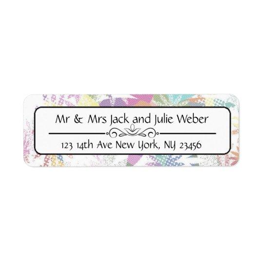 Pretty Floral Return Address Stickers
