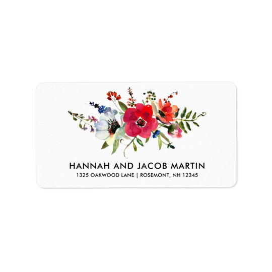 Pretty Floral Return Label