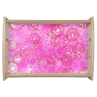 Pretty floral. serving tray