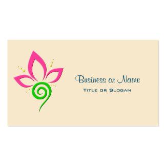 Pretty Floral Symbol Design Pack Of Standard Business Cards