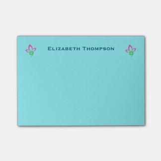 Pretty Floral Symbol Design Personalized Post-It Note