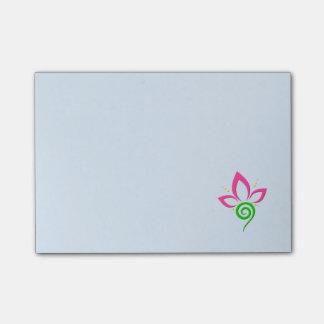 Pretty Floral Symbol Design Post-It Notes